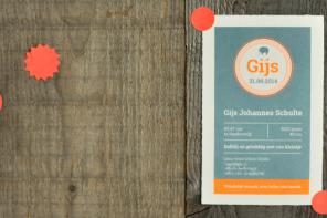 Geboortekaartje-Oud-Holland-olifantje-fluor-