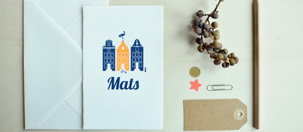 Geboortekaartje-Oud-Hollands-huisjes-Mats