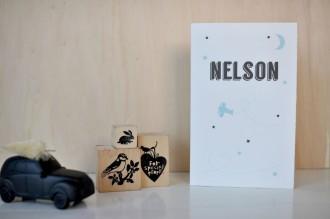 Geboortekaartje Oud Hollands Nelson