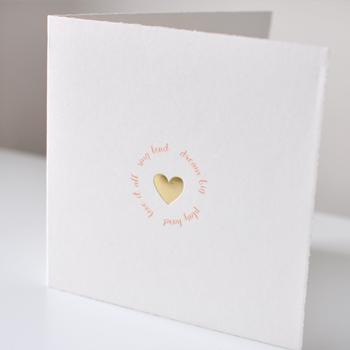 Geboortekaartjes goud hartje Lief Leuk & Eigen