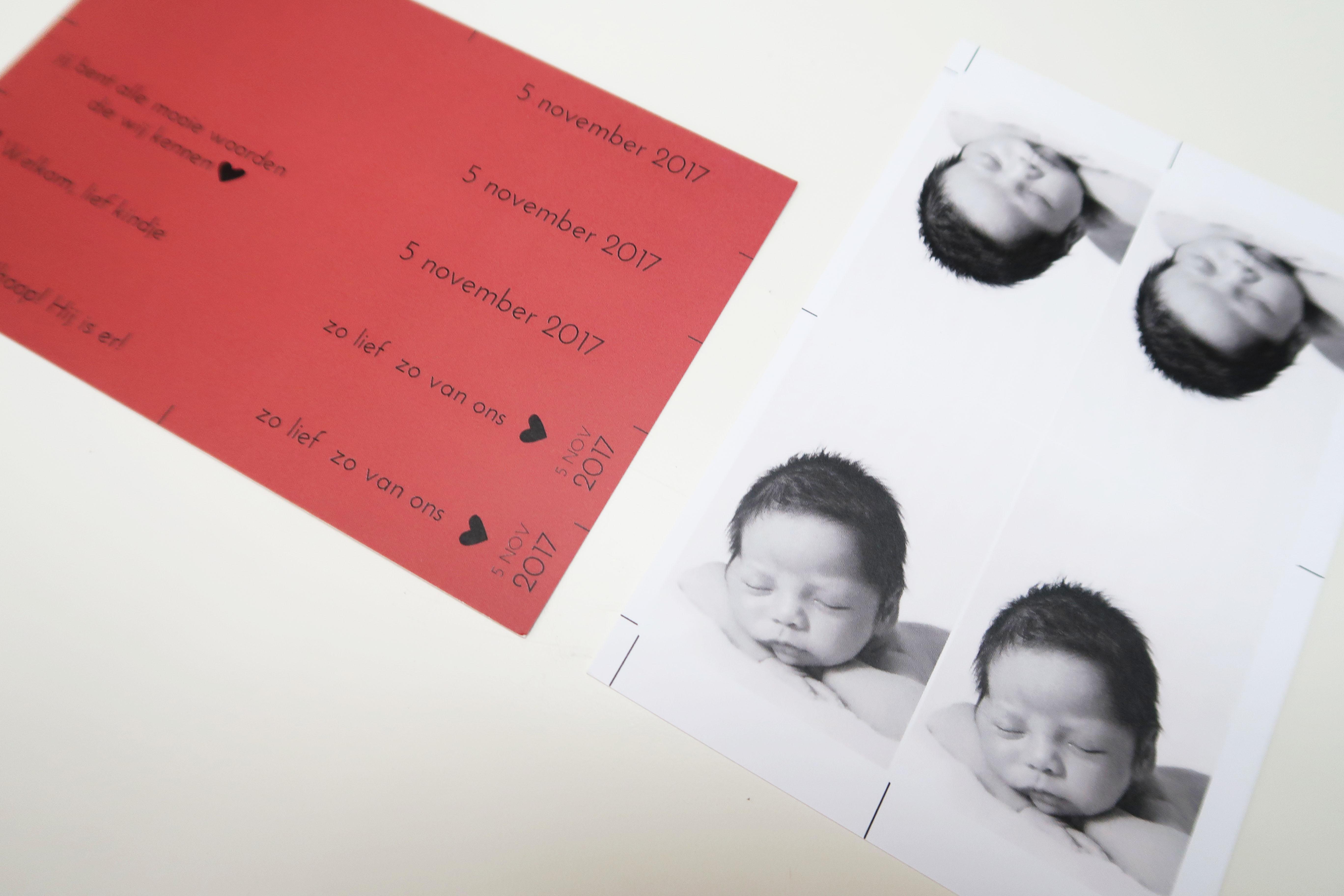 DIY labels om zelf te knippen geboortekaartj